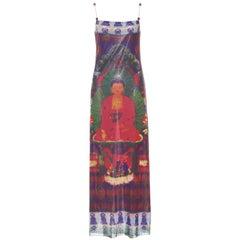 Vivienne Tam Vintage Buddha Dress with Cloisonné Bead Straps