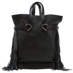 Max V. Koenig Aquila black leather tote bag