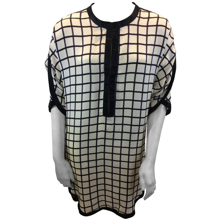 Isabel Marant White and Black Windowpane Dress