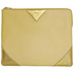 Celine Bi-Colored iPad Zip Pouch Bag with Dust Bag & Tags