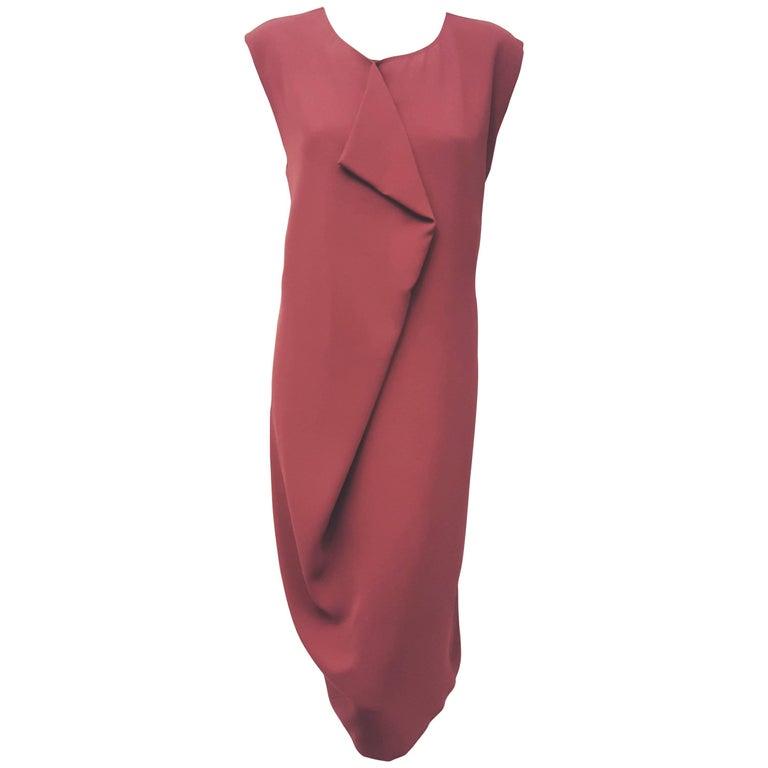 Memorable Max Mara Mauve Sleeveless Round Neckline Dress
