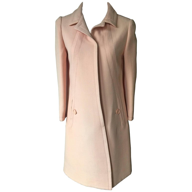 Rare Vintage Jean Patou Pink Coat Size S.