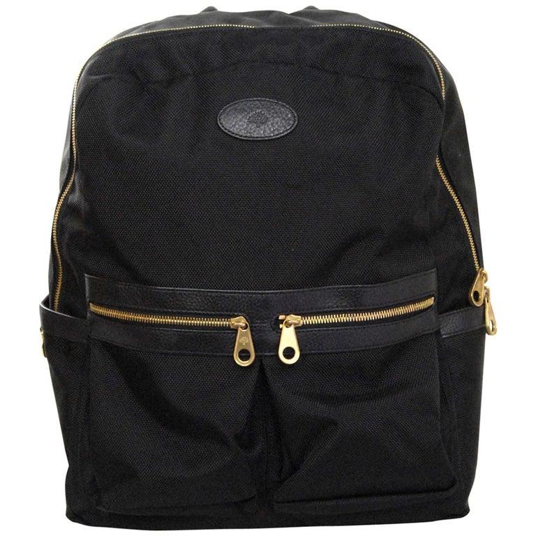 464567f185c Mulberry Black Textured Nylon Henry Backpack Bag rt. $780 For Sale ...