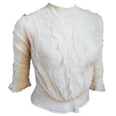 Edwardian White Lace Blouse