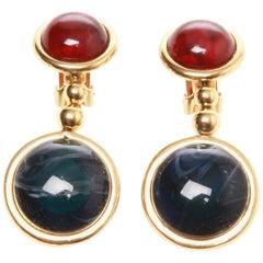 Christian Dior Coloured Glass Drop Earrings