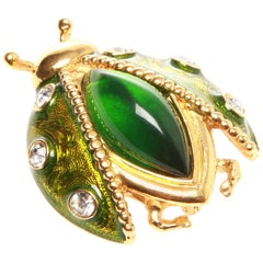 Christian Dior Vintage Beetle Brooch
