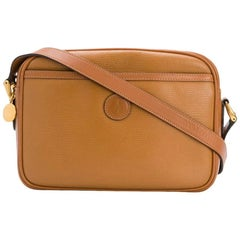 Gucci Camel Leather Shoulder Camera Bag