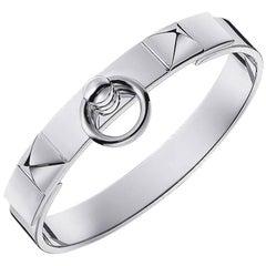 Hermes Bracelet Sterling Silver CDC Collier de Chien Cuff SH new w/ box
