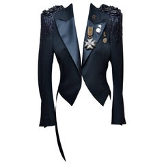 Balmain Tuxedo Style Military Jacket With Embellishment
