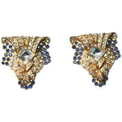 Art Deco Gilt Dress Clips