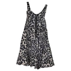 Grey Dolce & Gabbana Printed Silk Dress
