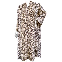 Saks Fifth Avenue Animal Print Lounge Gown for Mollie Parnis circa 1970s