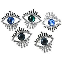 Blue Swarovski Evil Eye Ring