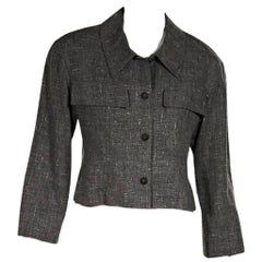 Grey Chanel Cropped Jacket