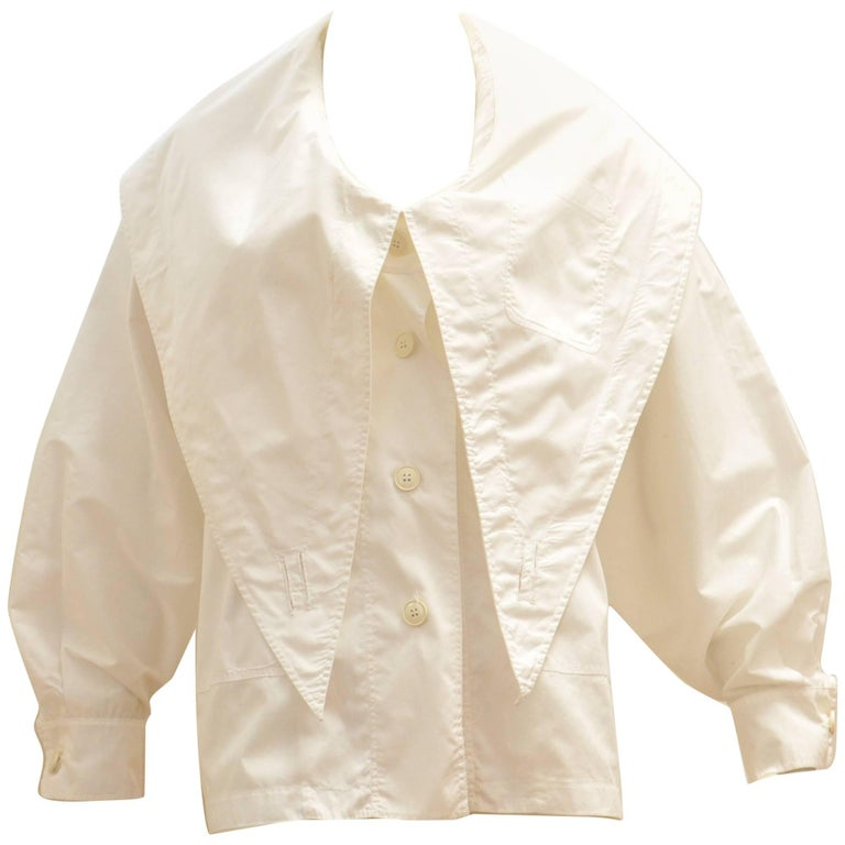 Jean-Charles de Castelbajac Shawl Collar Cotton Oversized shirt, 1980s