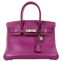 Hermès Anemone Swift Leather 30 cm Birkin Bag with Palladium