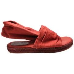 Romeo Gigli Never Worn Red Espadrilles