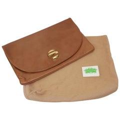 1970's Bottega Veneta Large Envelope Leather Clutch Handbag