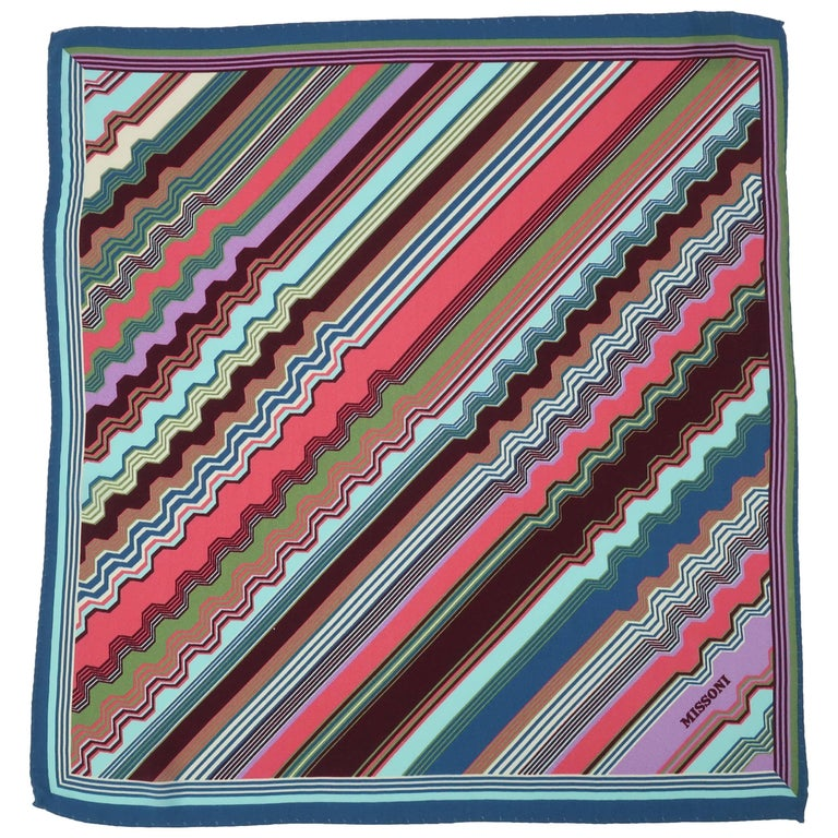 Vintage Missoni Silk Pocket Square Scarf