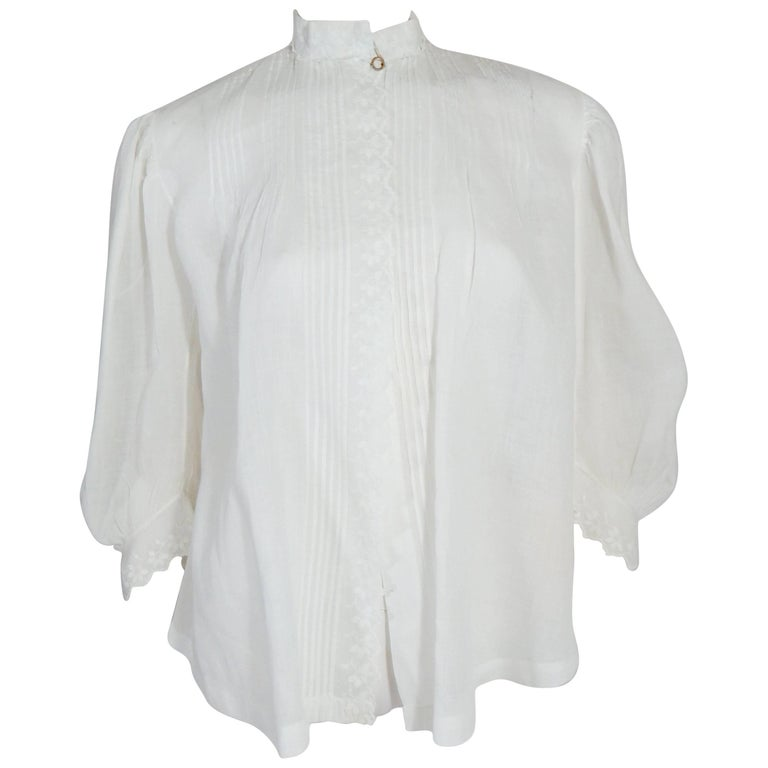 Embroidered Edwardian Blouse