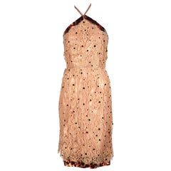 Chloe lace dress with tortoise trim and iridescent lining, 1990s