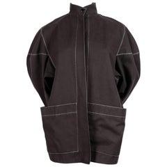 1980's AZZEDINE ALAIA charcoal studio jacket