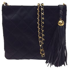 Chanel Black Satin Crossbody