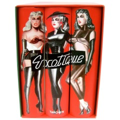Exotique Trilogy Set of Avant-garde Hard Cover Books in Case ca 1998