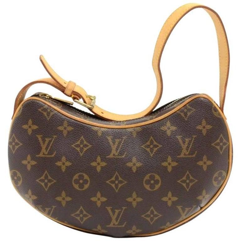 Louis Vuitton Pochette Croissant Monogram Canvas Shoulder Handbag