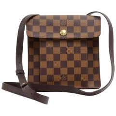 Vintage Louis Vuitton Pimlico Ebene Damier Canvas Crossbody Bag