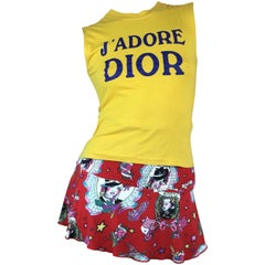 Christian Dior Miss Dior Skirt with Tattoo Motif from 2004 Size XS/S