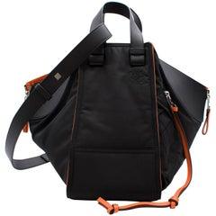 Loewe black leather hammock bomber bag