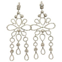 2005 Christian Dior Runway gorgeous pair of rhinestone earrings