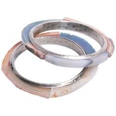 CHANEL Blue, Beige and Brown Hard Stones Bracelet