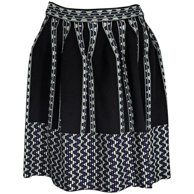 Multicolor M Missoni Knit Skirt