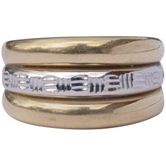 Milor Italian 14KT Gold Fancy Band Ring