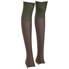 Prada Runway Footless Two-Tone Knee High Socks, Fall 2007