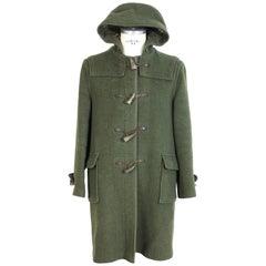 Burberry Montgomery Dark Green Wool English Coat, 1980