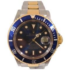 Rolex Gold Submariner Blue