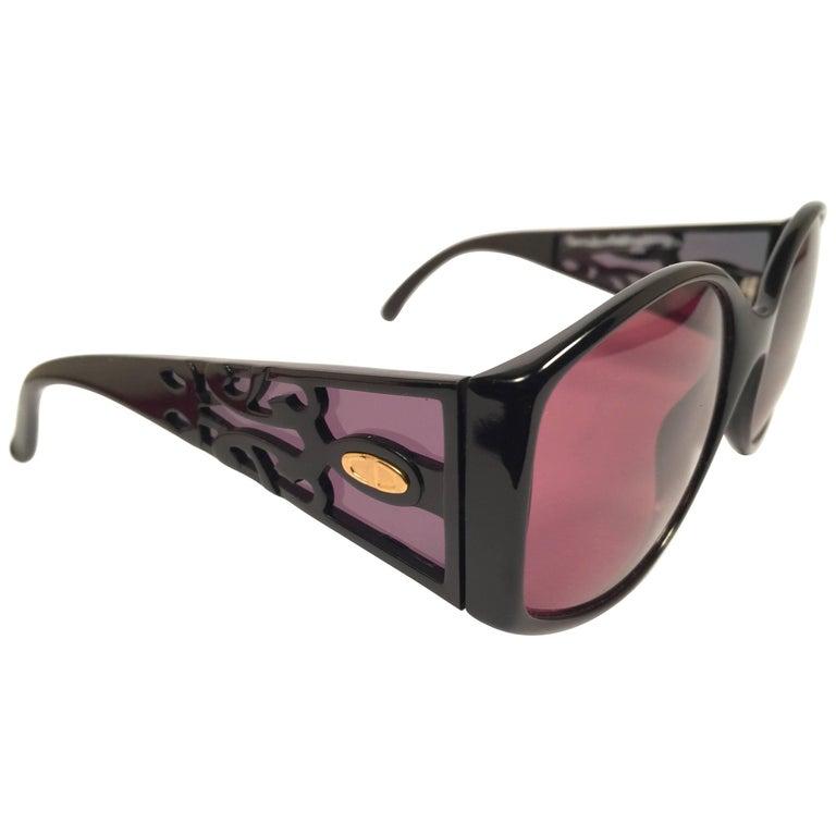 New Vintage Christian Dior Black 2435 Optyl 1980's Sunglasses Germany