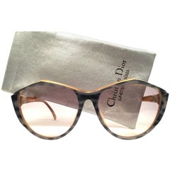 New Vintage Christian Dior 2234 Grey Oversized Optyl Sunglasses