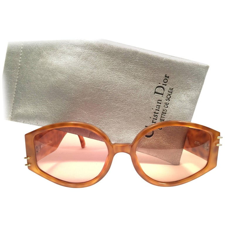 New Vintage Christian Dior 2603 Honey Translucent Optyl 1980 Sunglasses