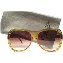 New Vintage Christian Dior 2125 Oversized Translucent Optyl 1980 Sunglasses