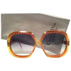 New Vintage Christian Dior 2060 Oversized Translucent Optyl 1980 Sunglasses