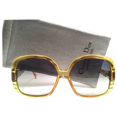 Christian Dior 2064 Vintage Green Oversized Optyl Sunglasses, 1980