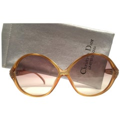 Christian Dior Vintage 2126 Honey Oversized Optyl Sunglasses, 1980