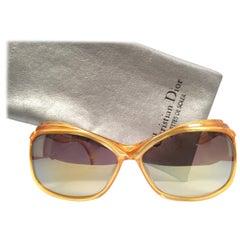 New Vintage Christian Dior 2129 40 Bug Eyed Mask Style Optyl 1980 Sunglasses