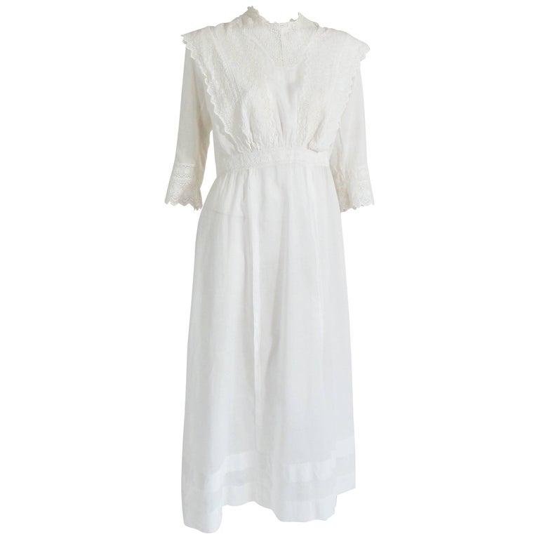 Embroidered Edwardian Dress