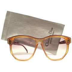 New Vintage Christian Dior 2093 Oversized Amber Optyl 1970 Sunglasses