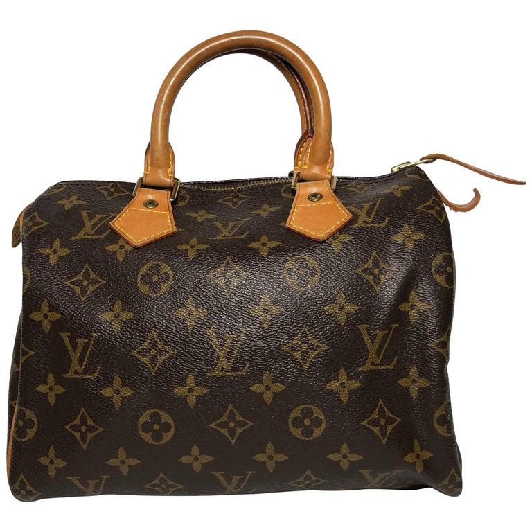 Louis Vuitton Monogram Speedy 25 Top Handle Bag